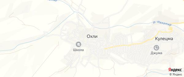 Карта села Охли в Дагестане с улицами и номерами домов
