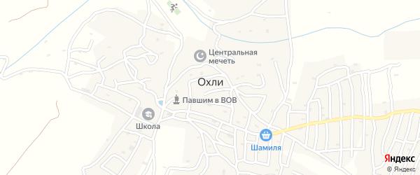 Улица Хапиза Хажиява на карте села Охли Дагестана с номерами домов