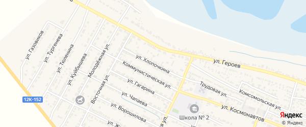 Улица И.Хлопочкина на карте поселка Лимана Астраханской области с номерами домов
