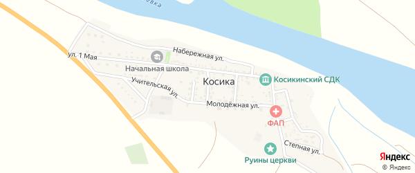 Короткий переулок на карте села Косики с номерами домов