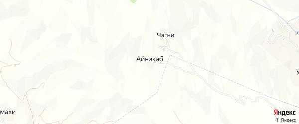 Карта села Айникаба в Дагестане с улицами и номерами домов