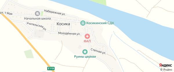 Улица Кирова на карте села Косики Астраханской области с номерами домов