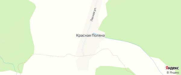 Карта деревни Красной Поляны в Ульяновской области с улицами и номерами домов