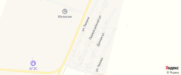 Привокзальная улица на карте поселка Лимана Астраханской области с номерами домов