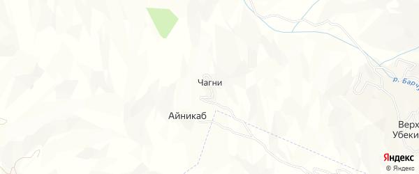 Карта села Чагни в Дагестане с улицами и номерами домов