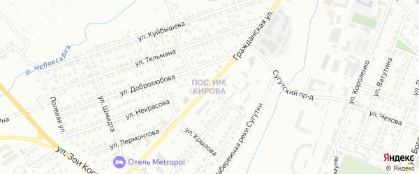 Улица Грибоедова на карте Чебоксар с номерами домов