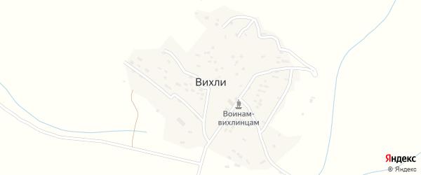 Улица Ахмеда Юсупова на карте села Вихли Дагестана с номерами домов