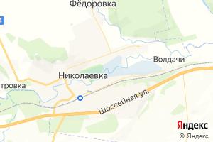 Карта пгт Николаевка Ульяновская область