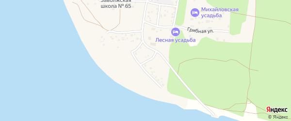 Левобережная улица на карте поселка Сосновки с номерами домов