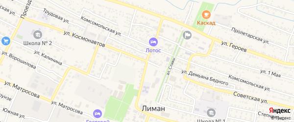 Электрическая улица на карте поселка Лимана Астраханской области с номерами домов