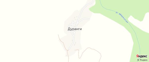Улица Т.Сахаватова на карте села Дуранги с номерами домов