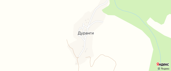 Улица А.Кадиева на карте села Дуранги с номерами домов