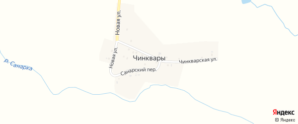 Чинкварская улица на карте выселков Чинквары Чувашии с номерами домов