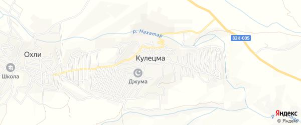 Карта села Кулецма в Дагестане с улицами и номерами домов