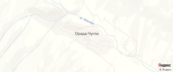 Карта села Орады-Чугли в Дагестане с улицами и номерами домов