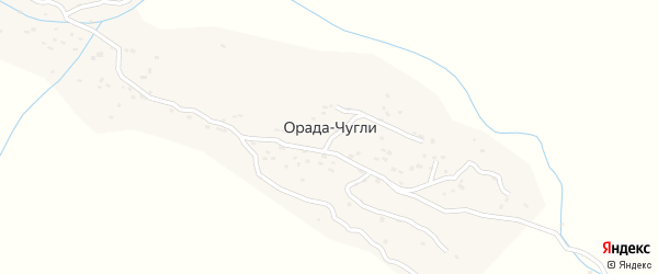 Школьная улица на карте села Орады-Чугли Дагестана с номерами домов