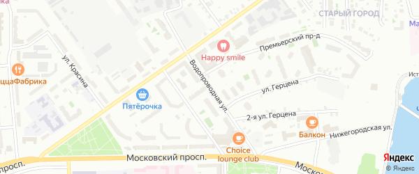 Водопроводная улица на карте Чебоксар с номерами домов