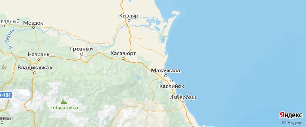 Карта Кумторкалинского района Республики Дагестана с городами и населенными пунктами