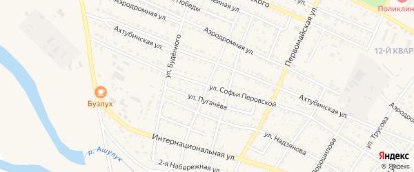 Красноармейская улица на карте Харабали с номерами домов
