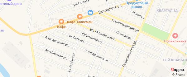 Юбилейная улица на карте Харабали с номерами домов