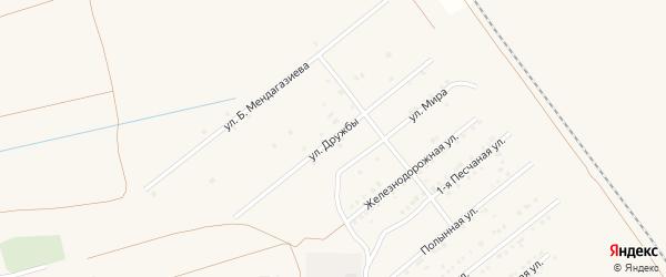 Улица Дружбы на карте Харабали с номерами домов