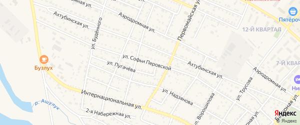 Улица С.Перовской на карте Харабали с номерами домов