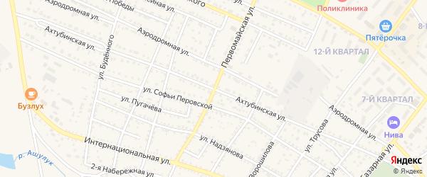 Ахтубинская улица на карте Харабали с номерами домов