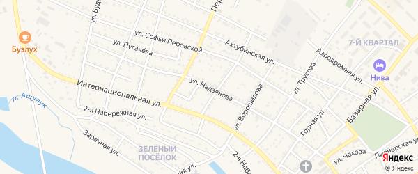 Улица Надзянова на карте Харабали с номерами домов