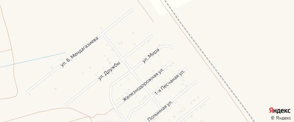 Улица Мира на карте Харабали с номерами домов