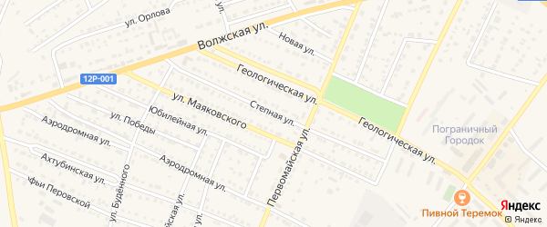Степная улица на карте Харабали с номерами домов