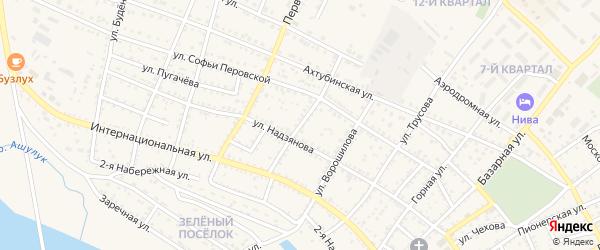 Партизанская улица на карте Харабали с номерами домов