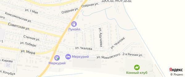 Интернациональная улица на карте поселка Лимана Астраханской области с номерами домов