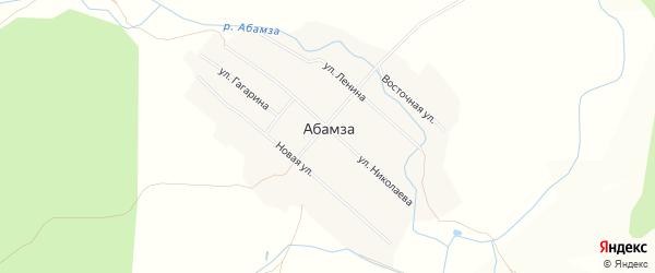 Карта деревни Абамзы в Чувашии с улицами и номерами домов