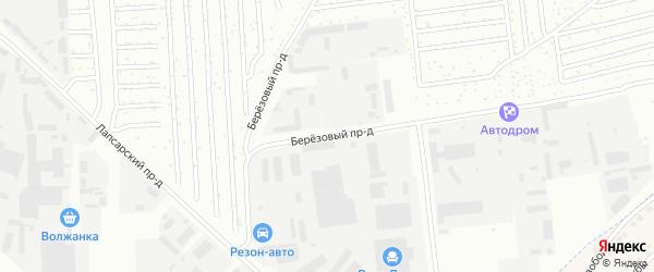 Березовый проезд на карте Чебоксар с номерами домов