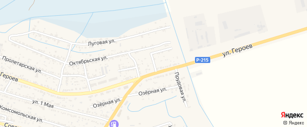 Тихий переулок на карте поселка Лимана Астраханской области с номерами домов