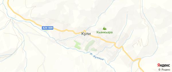 Карта села Кули в Дагестане с улицами и номерами домов