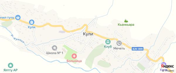 Улица Гаруна Саидова на карте села Кули Дагестана с номерами домов