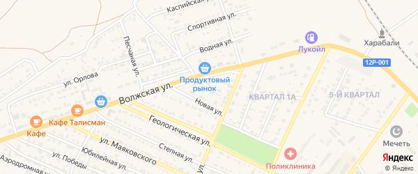 Новый переулок на карте Харабали с номерами домов
