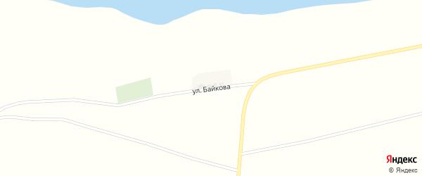 Улица Байкова на карте поселка Буруны Астраханской области с номерами домов