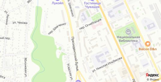 Улица Шевченко в Чебоксарах с номерами домов на карте. Спутник и схема онлайн