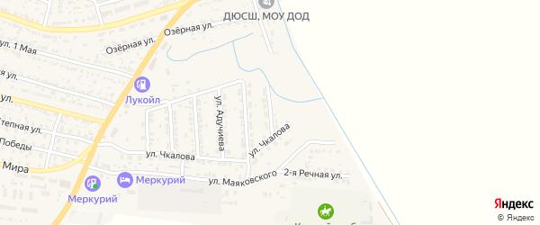 Улица Буденного на карте поселка Лимана Астраханской области с номерами домов