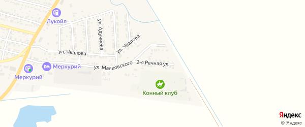 2-я Речная улица на карте поселка Лимана Астраханской области с номерами домов