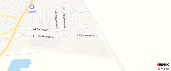 Речная улица на карте поселка Лимана Астраханской области с номерами домов