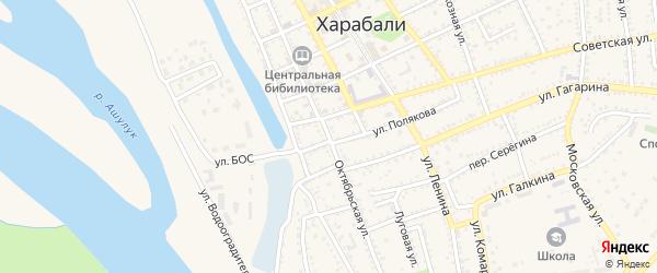 Октябрьская улица на карте Харабали с номерами домов