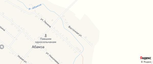 Восточная улица на карте деревни Абамзы с номерами домов