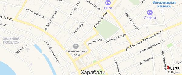 Улица Радищева на карте Харабали с номерами домов
