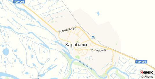 Карта Харабали с улицами и домами подробная. Показать со спутника номера домов онлайн