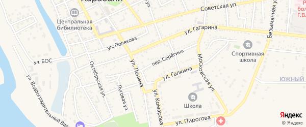 Переулок Серегина на карте Харабали с номерами домов