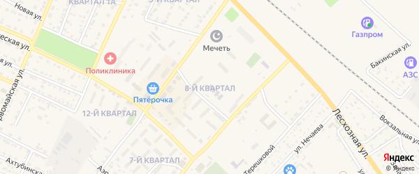 8-й квартал на карте Харабали с номерами домов