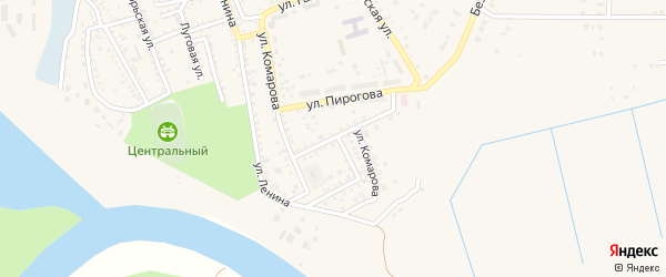 Улица Комарова на карте Харабали с номерами домов